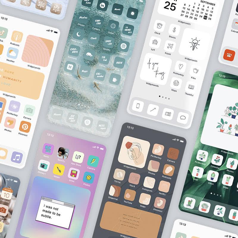 iOS 14 home screen ideas for various wallpaper aesthetics