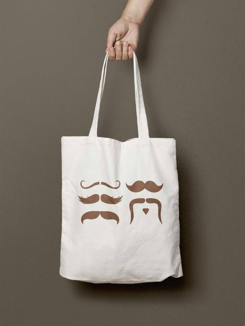 This uproarious tote was designed using PicMonkey's free mustache graphics.