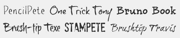 Typographer Jeroen van der Ham's fonts appear in PicMonkey's Text tab.