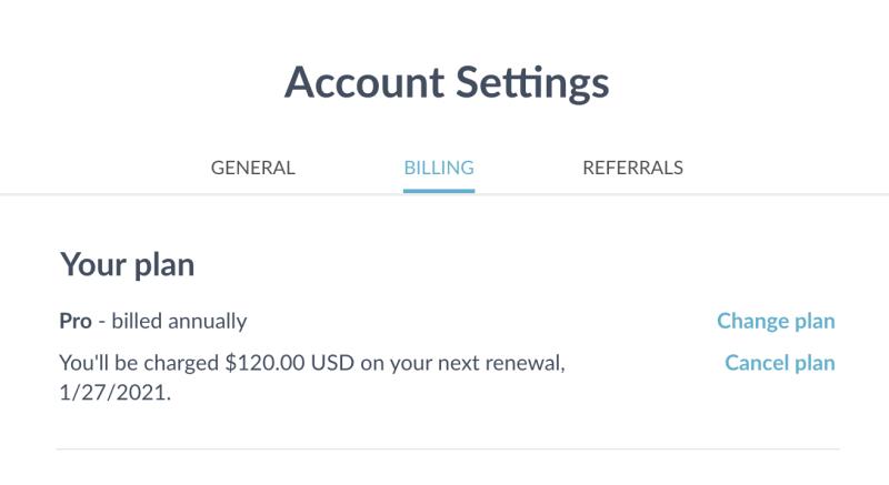 account cancel