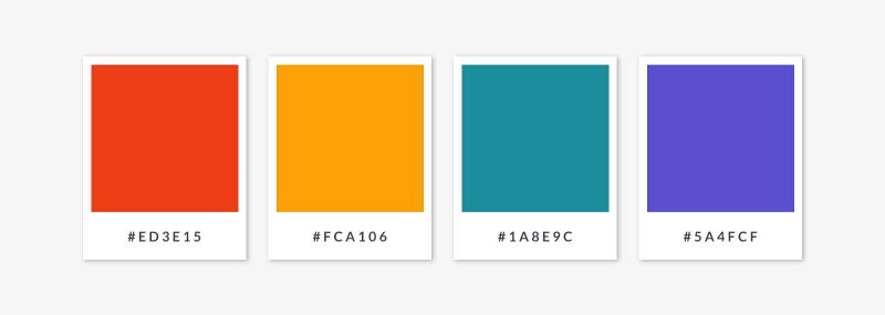 rectangular tetradic color palette