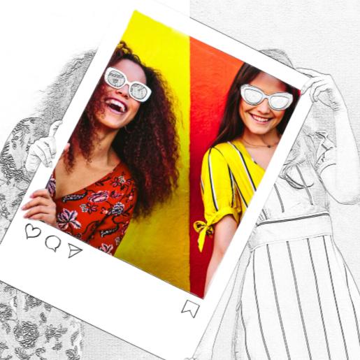 Los bocetos fotográficos son fáciles de crear con la función Edge Sketch de PicMonkey