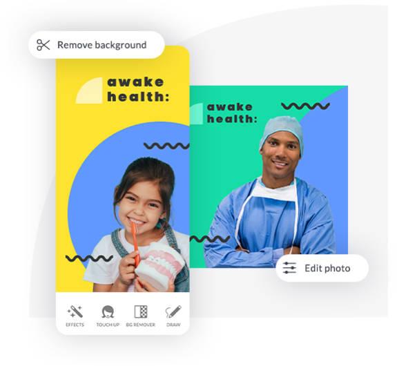 mobile app design background remove edit photo