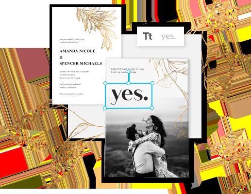 Wedding Invites made in picmonkey
