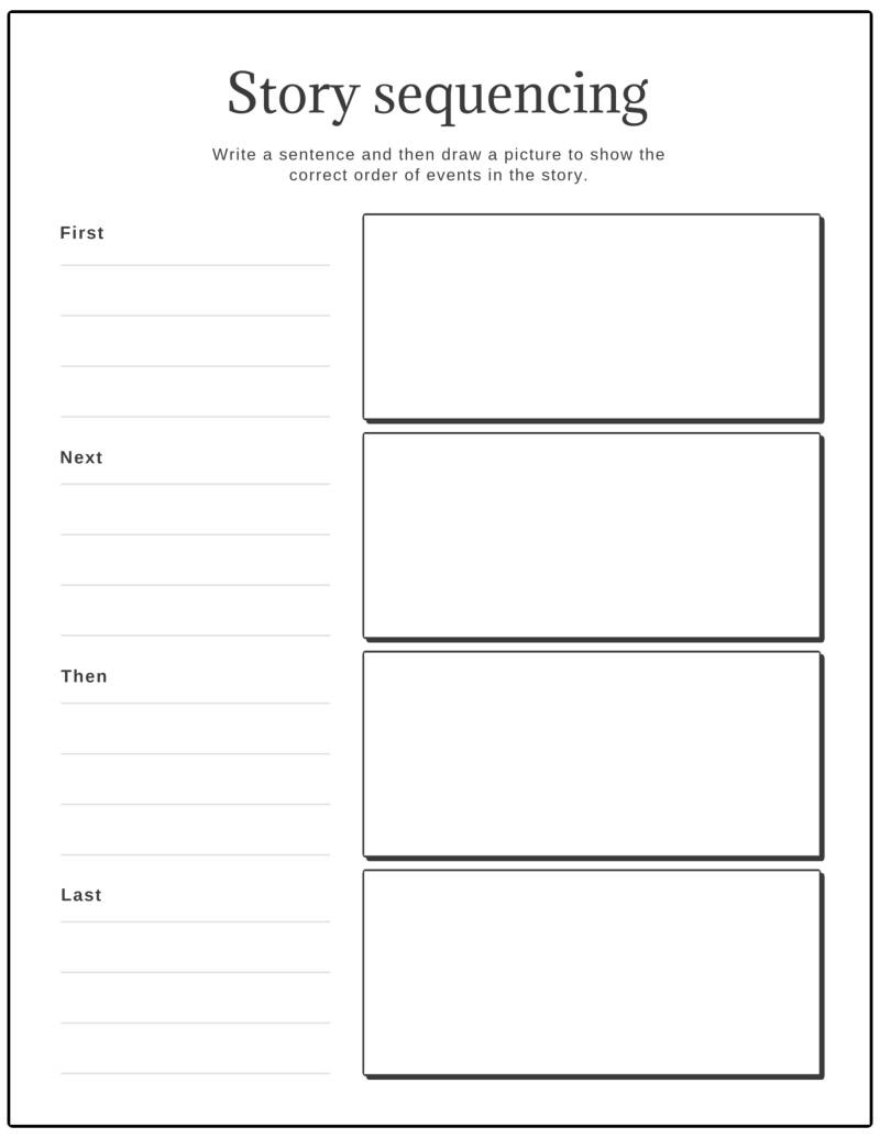 worksheet story