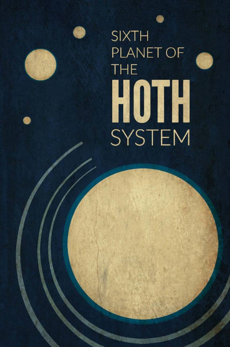 Star Wars travel posters -- Hoth planet