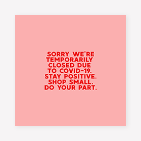 temporary closure instagram post