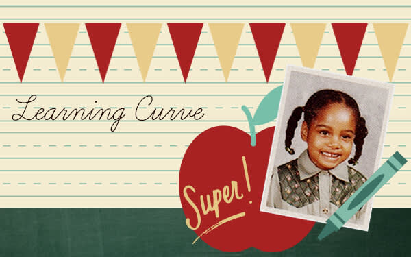 Get an adorable grade-school look with our School U theme.