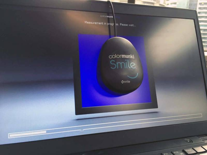 This Colormunki Smile device easily calibrates your monitor for you