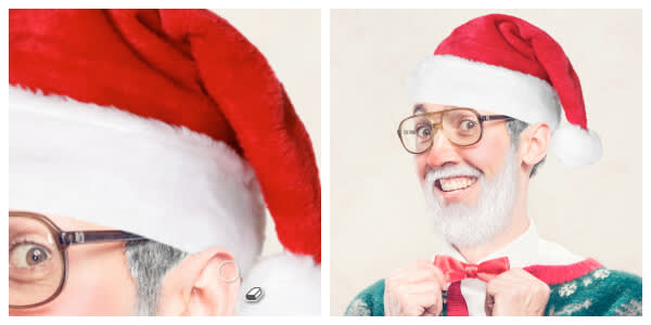 Santify yourself with a Kringle Cap, courtesy of our Santa costume effects.