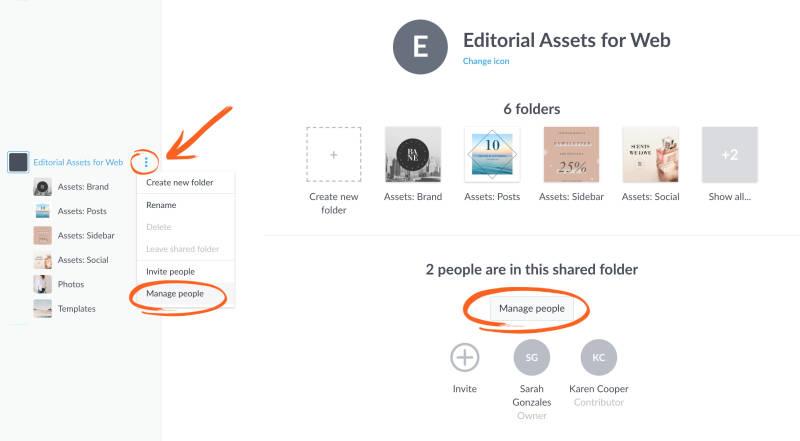manage shared folders