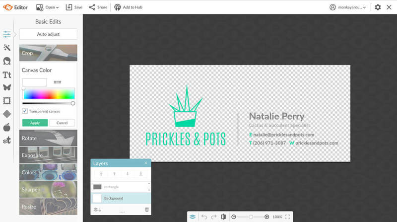 Make an email signature graphic with PicMonkey's design tools.