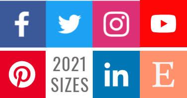 social media sizes for 2020 and social media templates