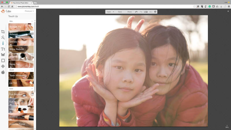 Touch-up your portraits with PicMonkey's tools.
