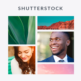 PicMonkey's stock photography collection, powered by Shutterstock.
