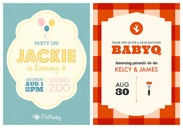 Summery invitations make gatherings more festive. Get the mood with gingham and balloons.