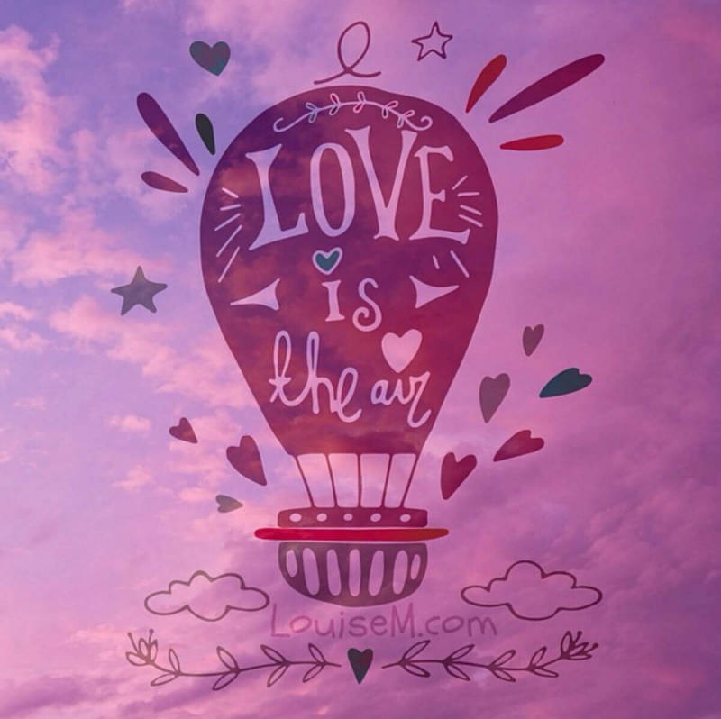 PicMonkey user creations: A hot air balloon graphic reading