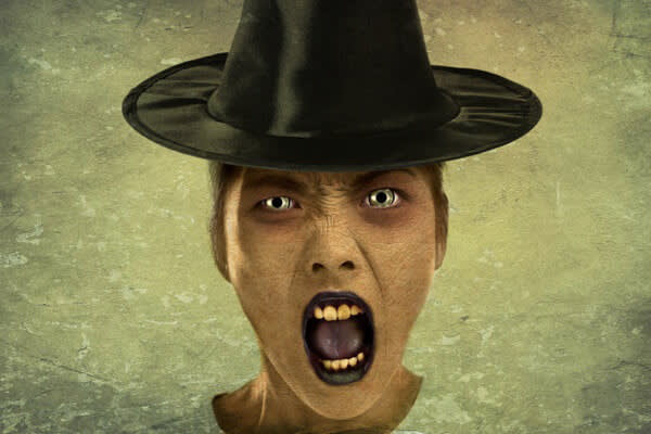 Transform a person into a thing with Halloween effects