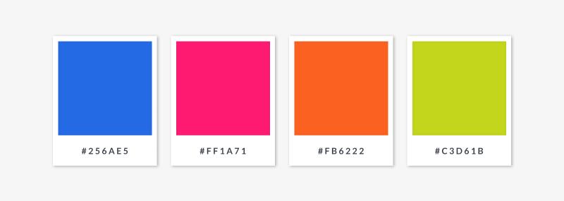 palette for a square color scheme