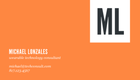 michael lonzales orange business card