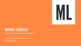michael lonzales orange business card
