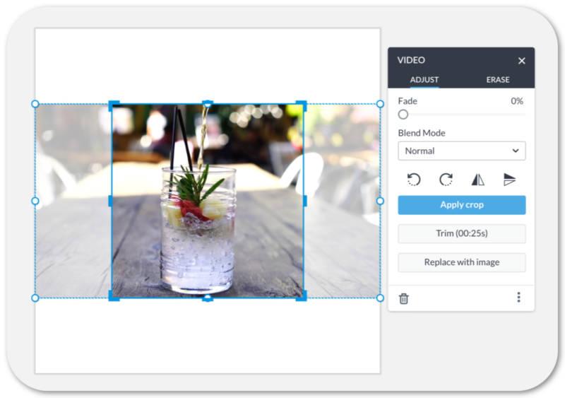 video palette UI