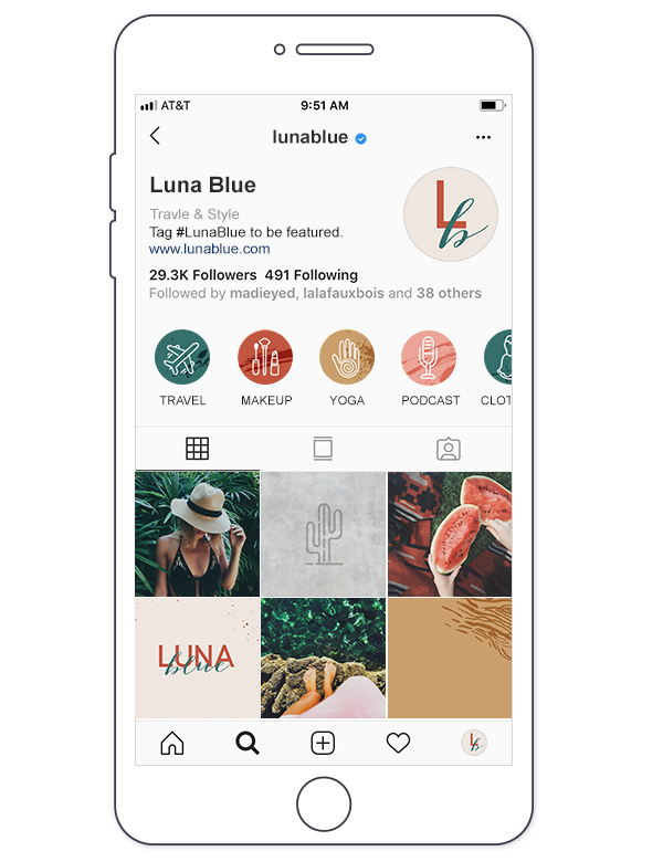Make custom instagram highlight covers in PicMonkey