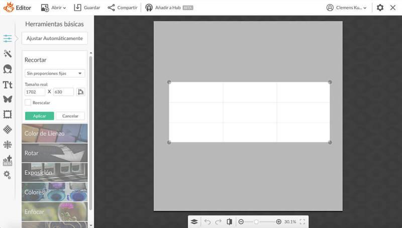 Cómo crear un banner, recortar, lienzo, portada de Facebook, PicMonkey, editor