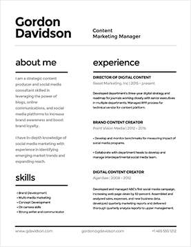 gordon-davidson-resume-template