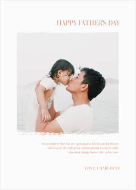 Father's Day card template with center photo and text
