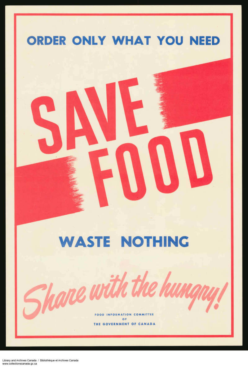 propaganda poster save food