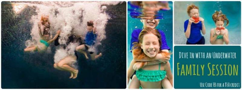 Underwater Facebook cover images collage