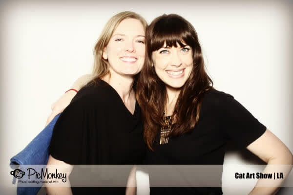 Photo of Christa and Lisa from PicMonkey.