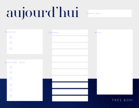 French-themed daily planner template at PicMonkey
