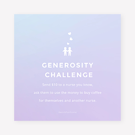 Instagram post generosity challenge