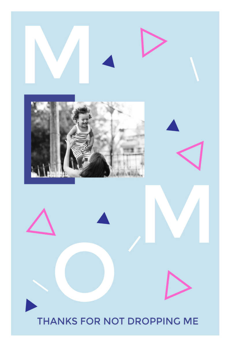 This Mother's Day card has a great 80s vibe.