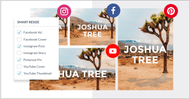 Crop designs for social media sizes or crop video for social media