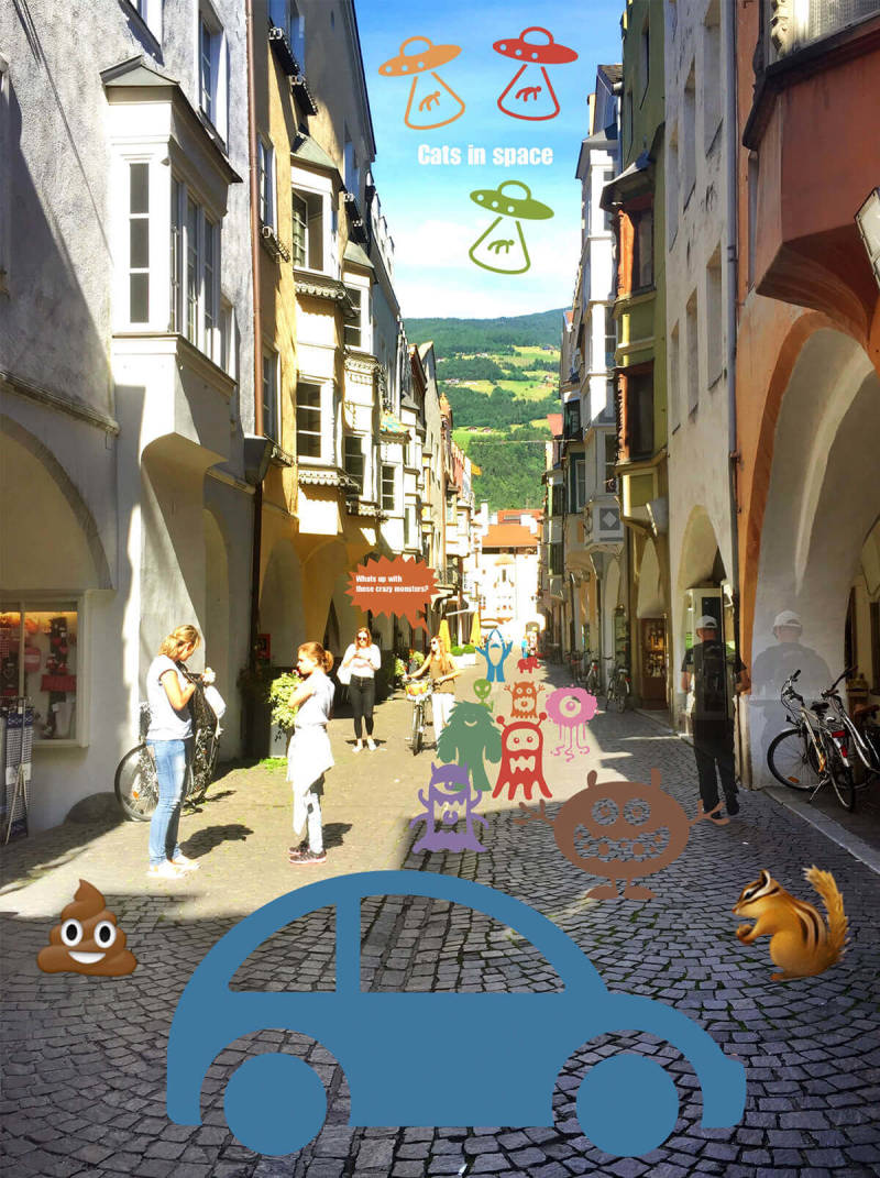 An Italian street made magical with the PicMonkey mobile app.