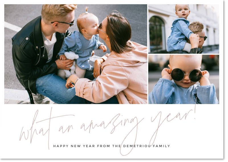 Use pics of your family to make a truly meaningful New Year's card.
