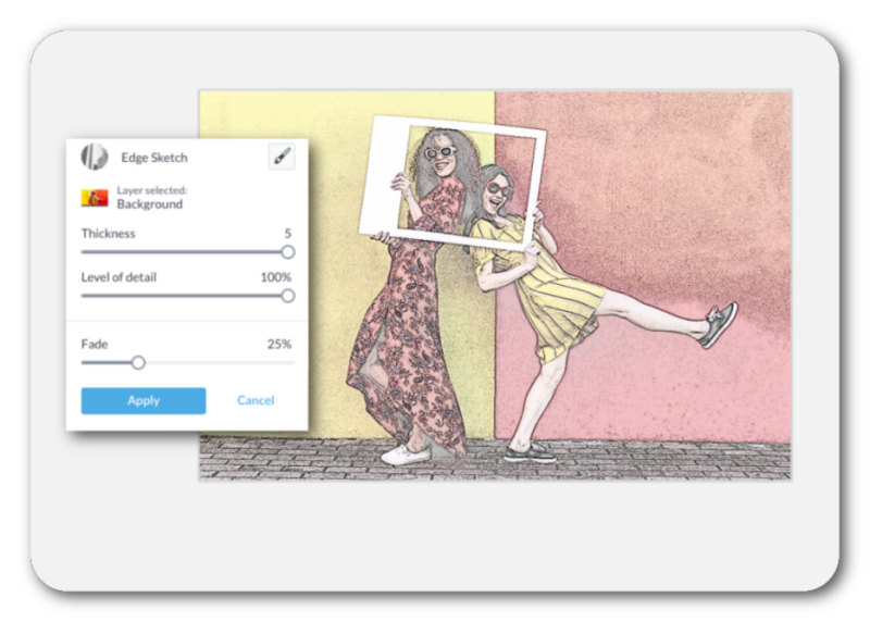 turn a photo into a sketch with the edge sketch tool