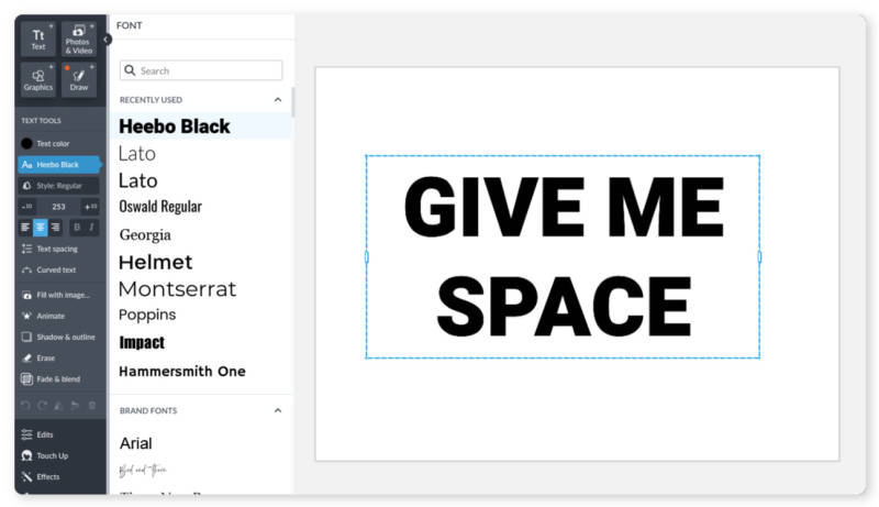 image fill type your text UX
