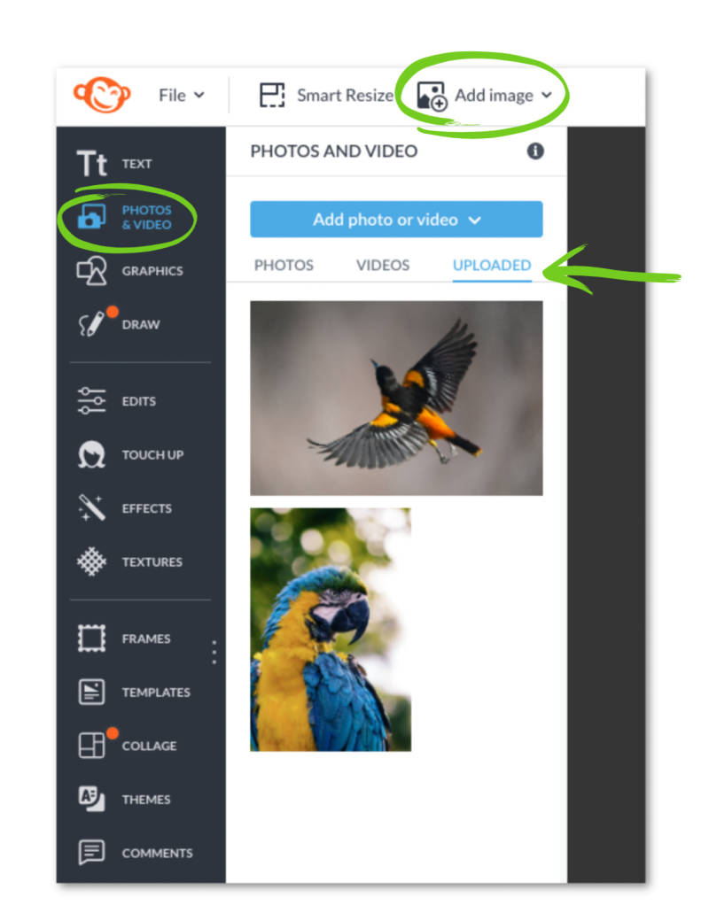images do not save to hub when added to an open project