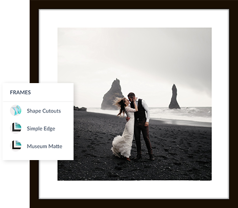Add frames to your digital photos with our frames tool or with photo frame graphics
