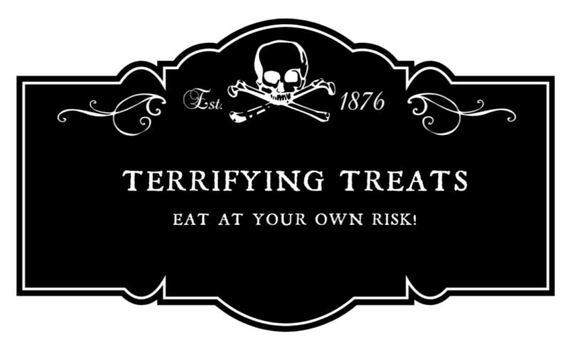 Terrifying treats label
