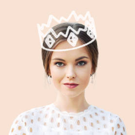 profile picture template with cartoon crown