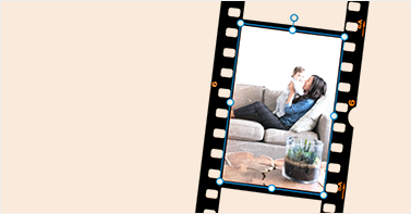Create a photo booth picture strip