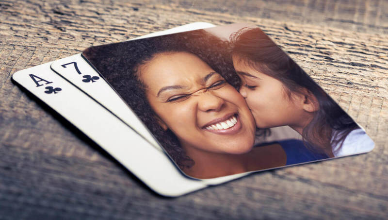 Photo gifts, playing cards, custom, personalize, PIcMonkey, design