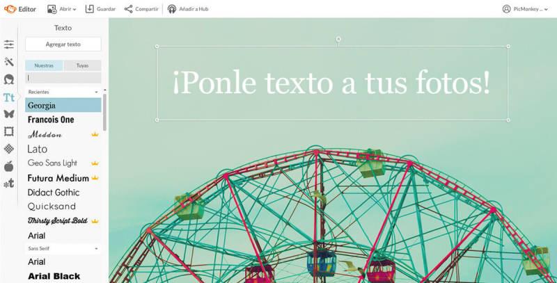Añade texto a tus fotos de manera sencilla con la herramienta de texto de PicMonkey.