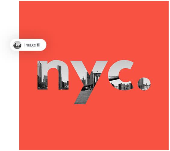 Ponga imágenes dentro del texto con un clic usando relleno de imagen