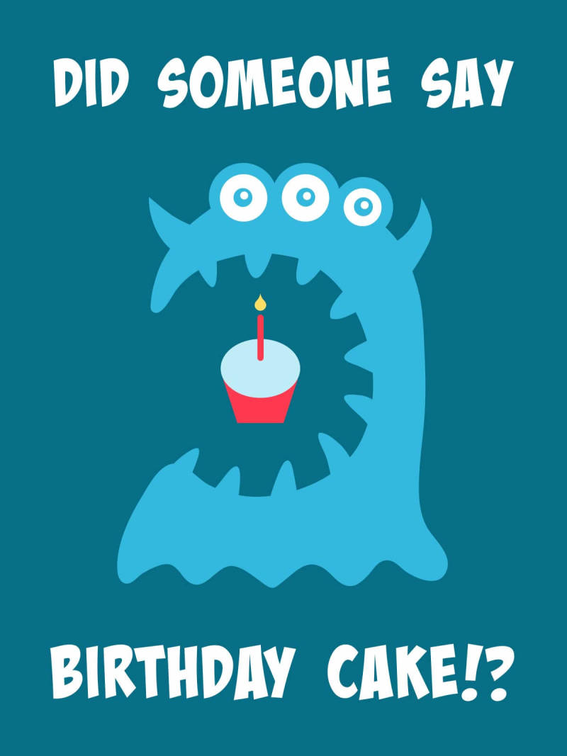 Make cute birthday cards for kids with free monster images and photo editing tools.